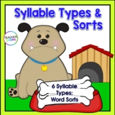 6 SYLLABLE TYPES & SYLLABLE SORTING with a Dog Theme