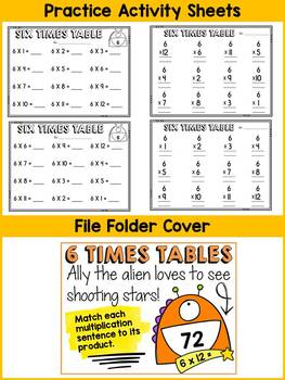 6 TIMES TABLES CENTER ACTIVITY: MULTIPLICATION