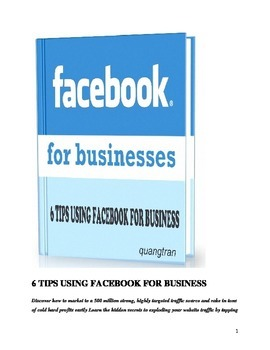 6 TIPS USING FACEBOOK FOR BUSINESS