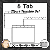 6 Tabs : Book Clipart Sets