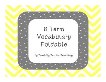 6 Tab Vocabulary Foldable