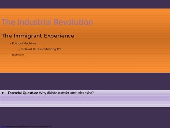6. The Industrial Revolution - Lesson 2 of 6 - The Immigra