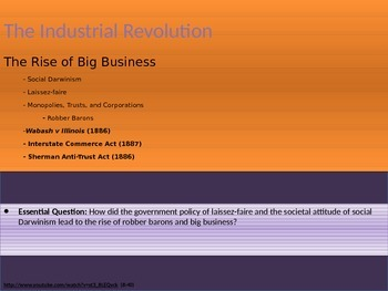 6. The Industrial Revolution - Lesson 3 of 6 - The Rise of Big Business