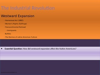 6. The Industrial Revolution - Lesson 5 of 6 - Westward Expansion