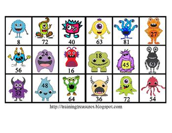 6 Themed Multiplication Mats