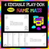 6 Themed Play Doh Name Mats for Back to School | Preschool + Kindergarten