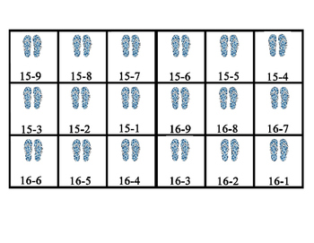 6 Themed Subtraction Mats and Cards