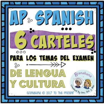 6 Themes Carteles Posters AP Spanish Language and Culture