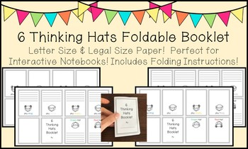 6 Thinking Hats Foldable in BOTH Letter and Legal Size Paper