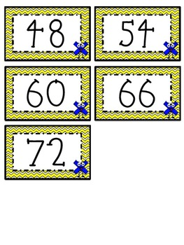 """6"" Times Table Flash Cards"
