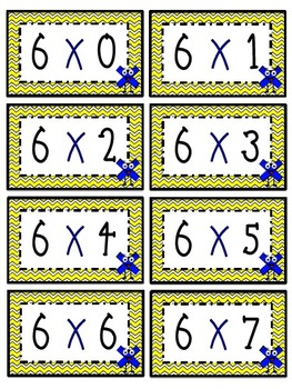 """""""6"""" Times Table Flash Cards"""