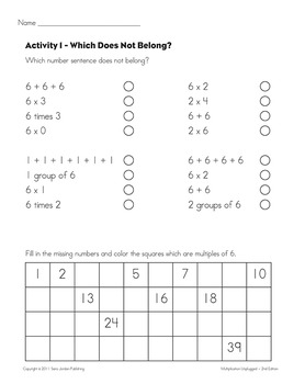 Skip Counting & Multiplying by 6 - Song w/ Lyrics & Activities (Common Core)