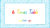6 Times Table Warm Up ACARA C2C Common Core aligned PowerPoint