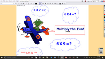 6 Times the Fun multiplication interactive flipchart