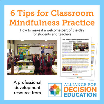 6 Tips for Classroom Mindfulness Practice
