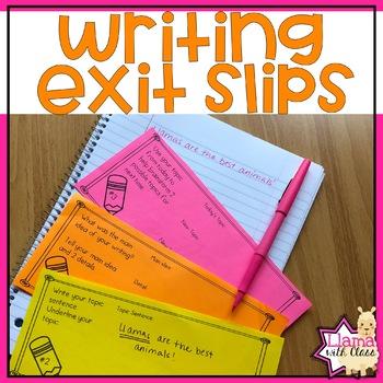 Student Writing Slips