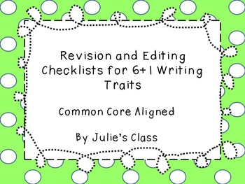 6 Trait Writing Checklists