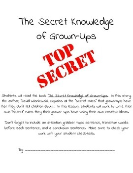 6 Trait Writing - Ideas - The Secret Knowledge of Grown-Ups