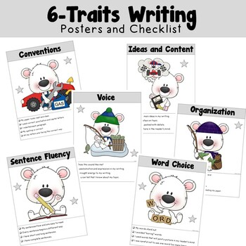 6 Traits Writing Posters and Checklist