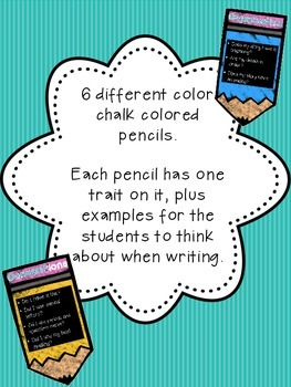 6 Trait Writing on Pencils Posters! (Chalk Pencil Edition)
