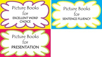 6 Traits Book Bin Labels for Picture Books