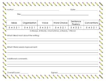 6 Traits Editable Packet