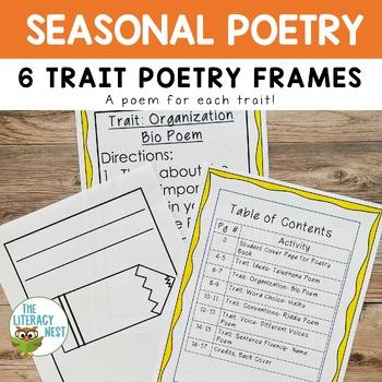 6 Traits Poetry Frame Printables