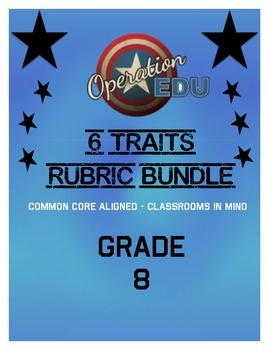 6 Traits Rubric Bundle - Grade 8