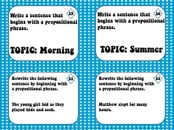 6 Traits: Sentence Fluency Task Cards