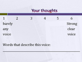 6 Traits: Voice