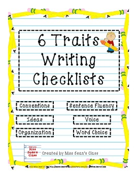 6 Traits Writing Student Checklists