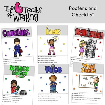 6 Traits Writing Posters and Checklist 2