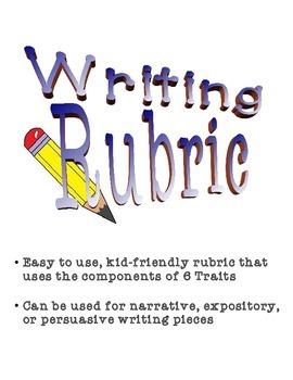 6 Traits Writing Rubric- Narrative, Expository & Persuasive