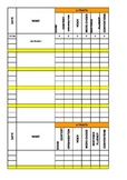6 Traits Writing Score Tracker
