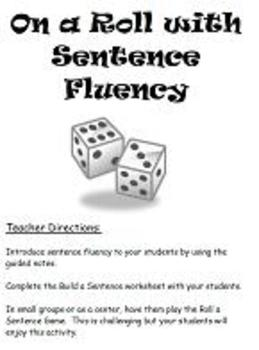 6 Traits Writing- Sentence Fluency- Notes, Guided Instruction, Activity