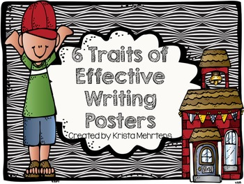 6 Traits of Effective Writing Posters