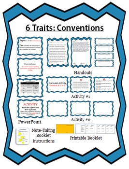 6 Traits of Writing: Conventions Lesson