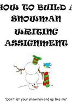 6 Traits of Writing: How to Build a Snowman Writing Prompt