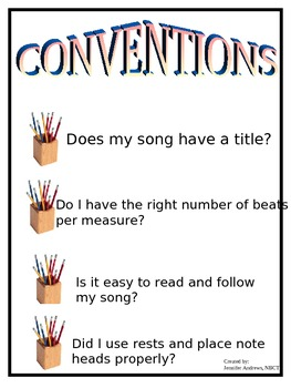 6 Traits of Writing Music Posters