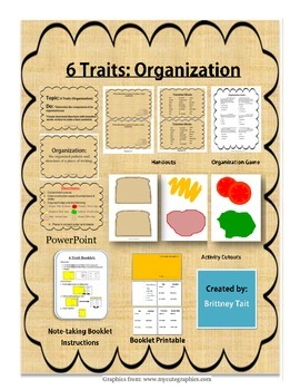 6 Traits of Writing: Organization Lesson
