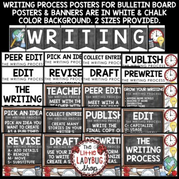 Writing Process Posters - Arms and Cups - Writing Process Clip Chart