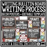 Digital Writing Process Posters Revising & Editing Writing Traits Bulletin Board