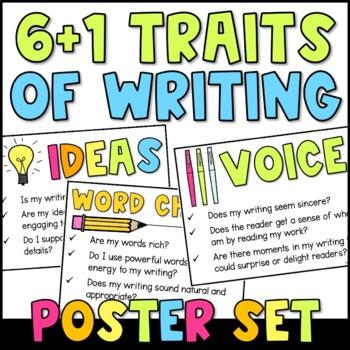 6 Traits of Writing Posters {Chalkboard Art}