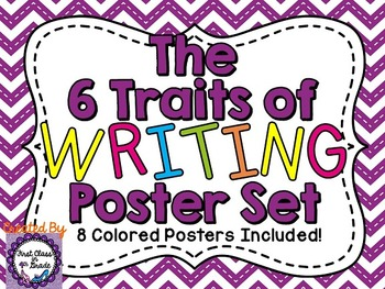 6 Traits of Writing Posters (Chevron)