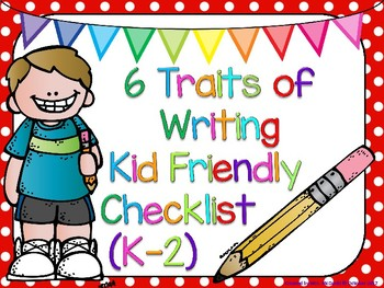 6 Traits of Writing Posters (K-2)