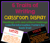 6 Traits of Writing Posters and Bulletin Board Headers -Hashtag Headers Included