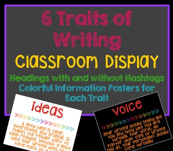 6 Traits of Writing Posters and Bulletin Board Headers -Ha
