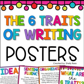 6 Traits of Writing Posters for Classroom Display - Quotes for Each Trait