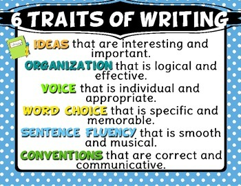 6 + 1 Trait Writing