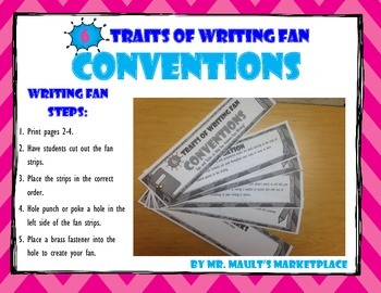[Conventions] 6 Traits of Writing Rubric Fan- Reference To